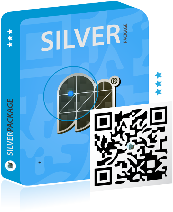 Smart QR Code Silver